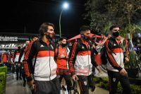 El plantel de River Plate ya se encuentra en Santiago