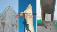 """Añatuya: """"decapitaron"""" estatua de la Virgen y destrozaron parte del cementerio"""
