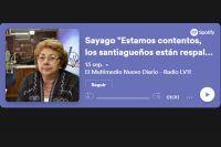 """Sayago """"Estamos contentos, los santiagueños están respaldando a este gobierno"""""""