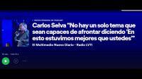 """Carlos Selva """"No hay un solo tema que sean capaces de afrontar diciendo 'En esto estuvimos mejores que ustedes'"""""""