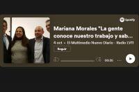 """Mariana Morales """"La gente conoce nuestro trabajo y sabe que lo hacemos para el pueblo"""""""