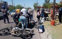 Tres personas resultaron heridas tras un accidente en avenida Belgrano