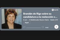 """Brandán de Rigo sobre su candidatura a la reelección como diputada """"Me llena realmente de orgullo"""""""