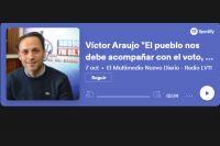 """Víctor Araujo """"El pueblo nos debe acompañar con el voto, por todo lo que se va a venir"""""""