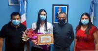 Se reconoció a nueva profesional de la salud en la ciudad de Pinto