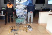 Alerta Banda identificó a un sujeto que sustrajo herramientas de una obra de construcción