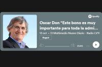 """Oscar Don """"Este bono es muy importante para toda la administración pública"""""""
