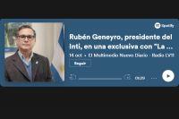 """Rubén Geneyro, presidente del Inti, en una exclusiva con """"La Radio de los Santiagueños"""""""