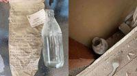 Descubrió un mensaje escondido en una botella desde hace 47 años y encontró a uno de los autores