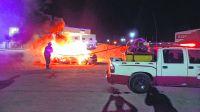 """Un automóvil quedó reducido a  """"cenizas"""" tras un voraz foco ígneo"""