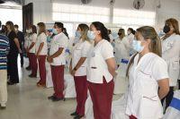 Auxiliares de Enfermería tuvieron su acto de colación en presencia de autoridades